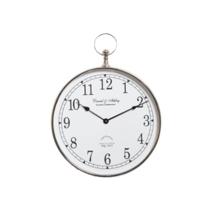 Luxury Wall Clock With White Face In Small