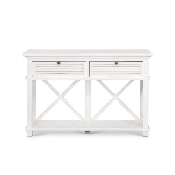 Long Island Two Drawer Console Table In White