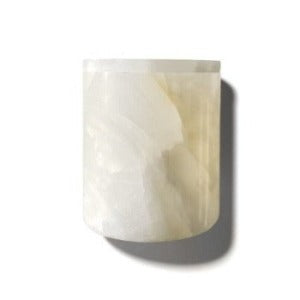 Luxury White Onyx Candle Holder