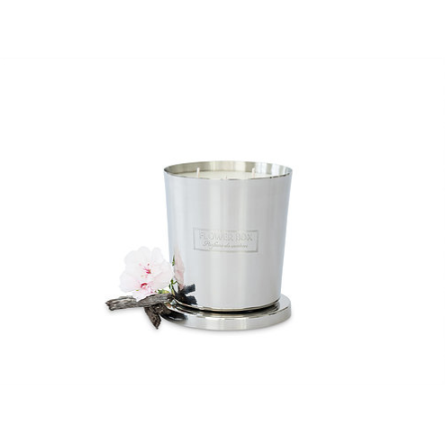 Flower Box Home Fragrance White Cedarwood - 1kg Silver Candle