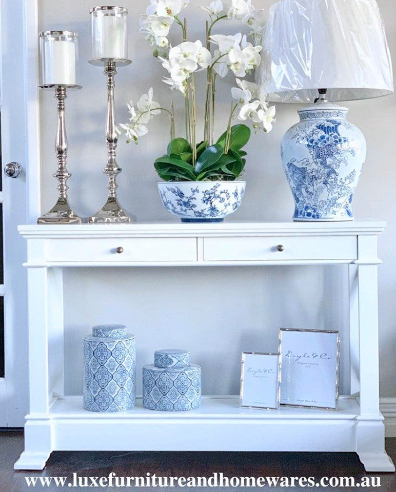Bayview Console Hall Table In White