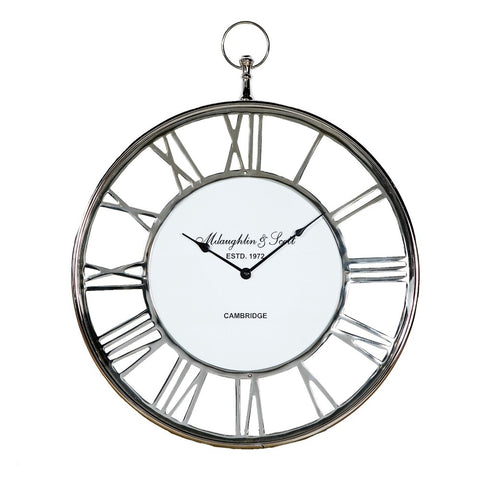 Luxury Wall Clock With White Dial In Large