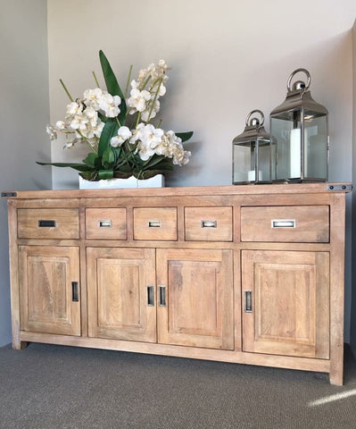 Hamptons Collection 180cm Solid Hardwood Buffet Sideboard