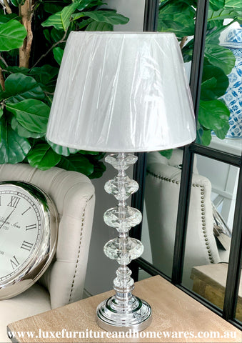 Luxurious Crystal Lamp With Shade In Large