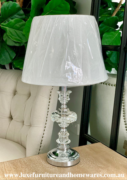 Luxurious Crystal Lamp With Shade In Small