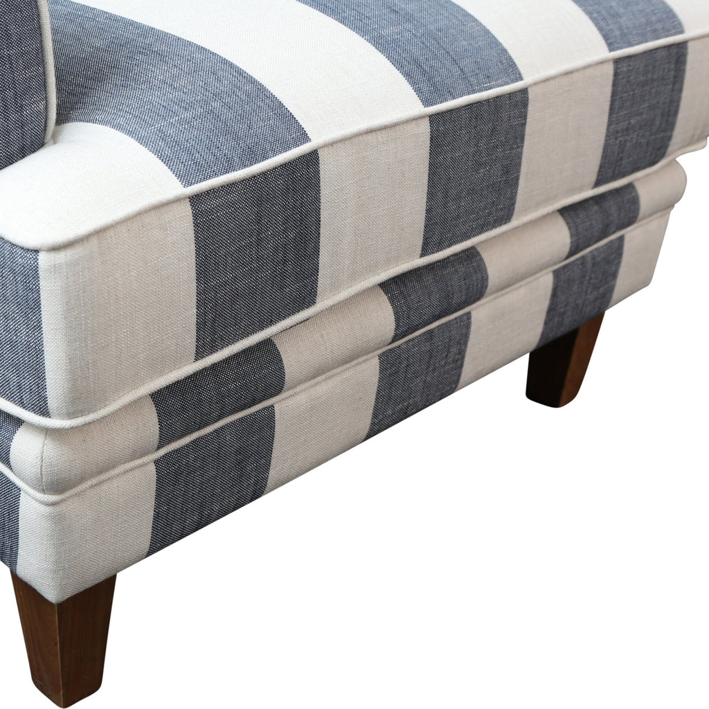 Newport Armchair In Classic Blue Stripe