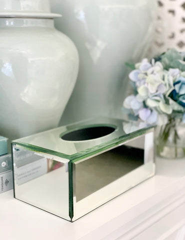 Mirrored Tissue Box Cover