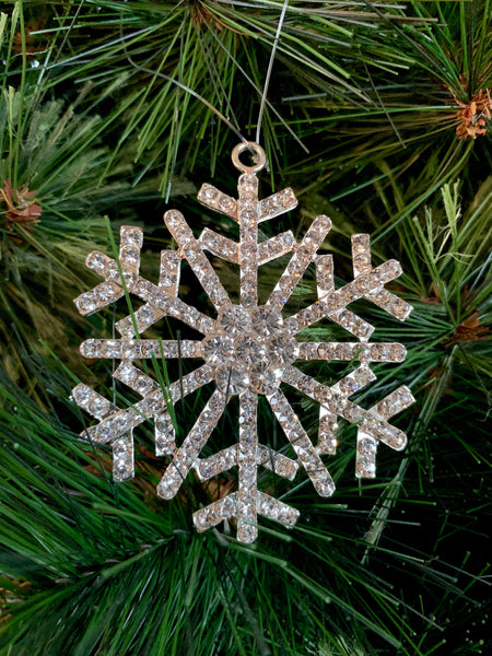 Diamond Snowflake Christmas Ornament