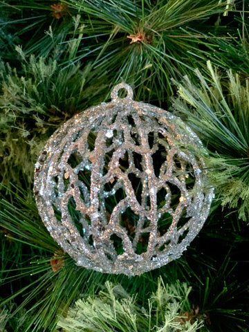 Silver Ball Christmas Ornament