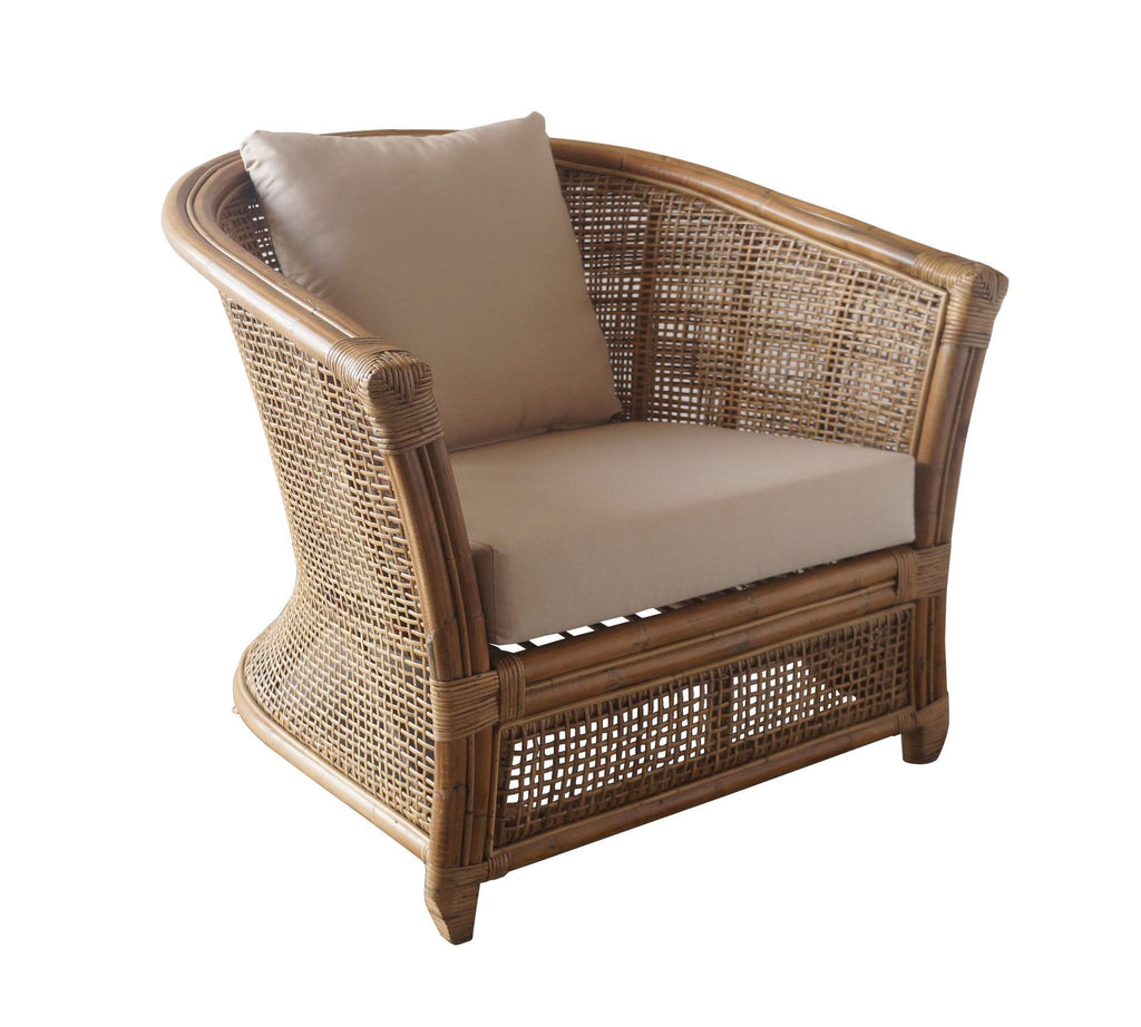Natural Rattan Armchair