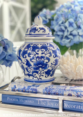 Mini Blue & White Ginger Jar