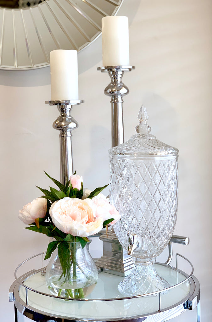 Luxury Crystal Cut Drinks Dispenser