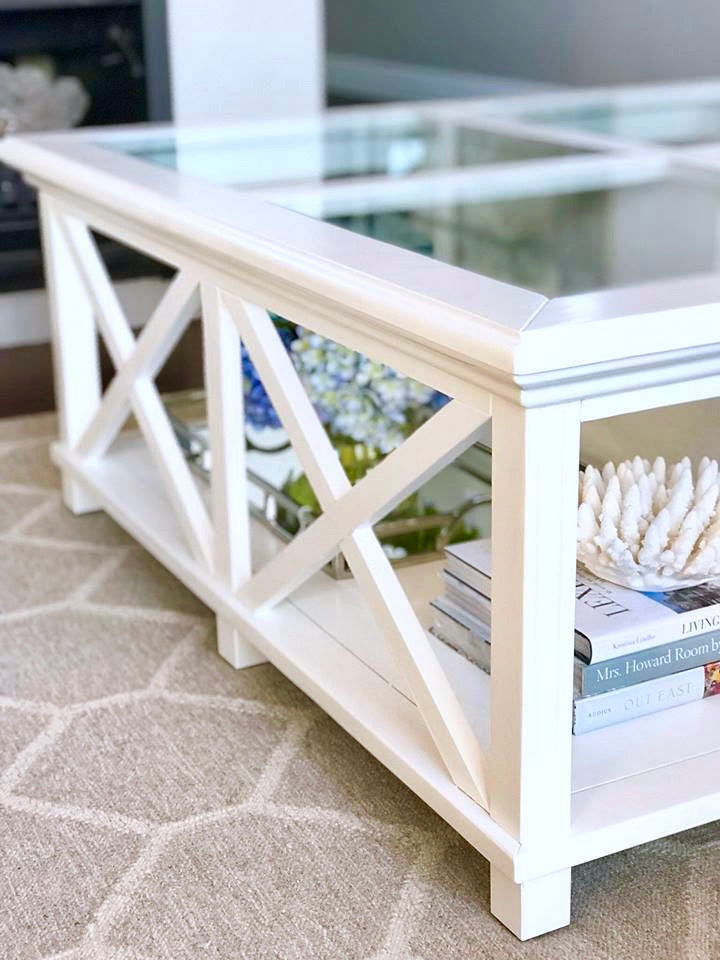 Newport Square Coffee Table In White