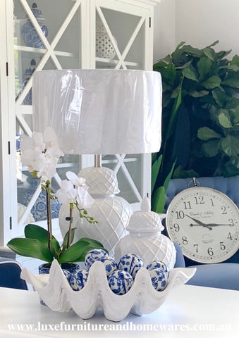 Blue & White Set of Six Imperial Decorator Balls