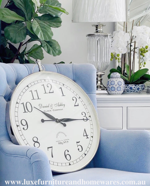 Luxury Wall Clock With White Face In Large