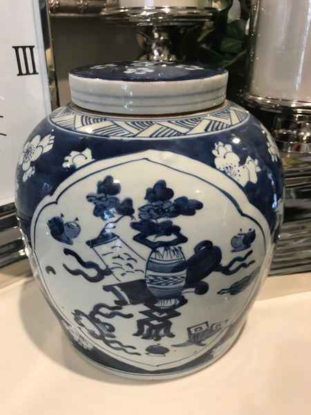 Specialty Blue & White Traditional Ginger Jar