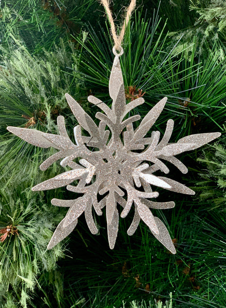 Frosted Snowflake Christmas Ornament