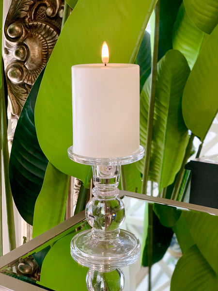 Nordic White Flameless Candle LUX Signature Collection In Small