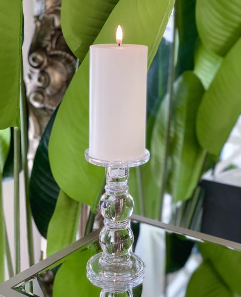 Nordic White Flameless Candle LUX Signature Collection In Medium