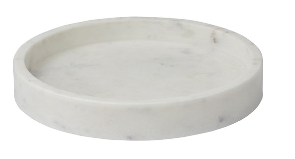 Small Round Cararra Marble Tray