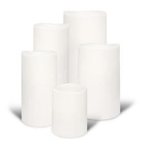 Nordic White Flameless Candle Platinum Collection In Medium