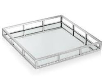 Milan Square Mirrored Tray