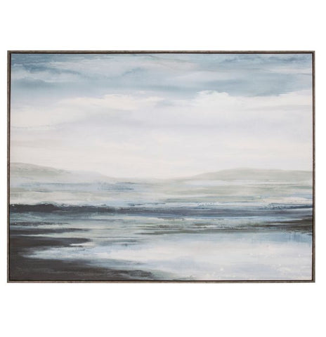 Seaside Framed Textured Canvas