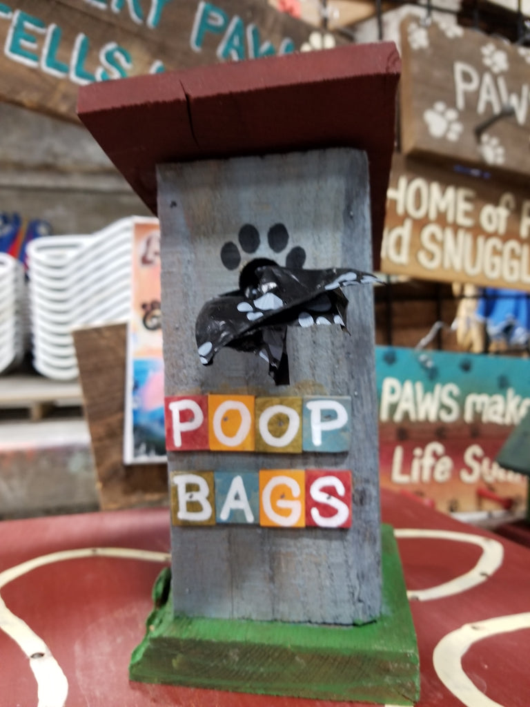 Poop Bag House (Outhouse Design - Blue)