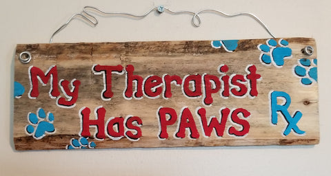 My therapist has paws (red)