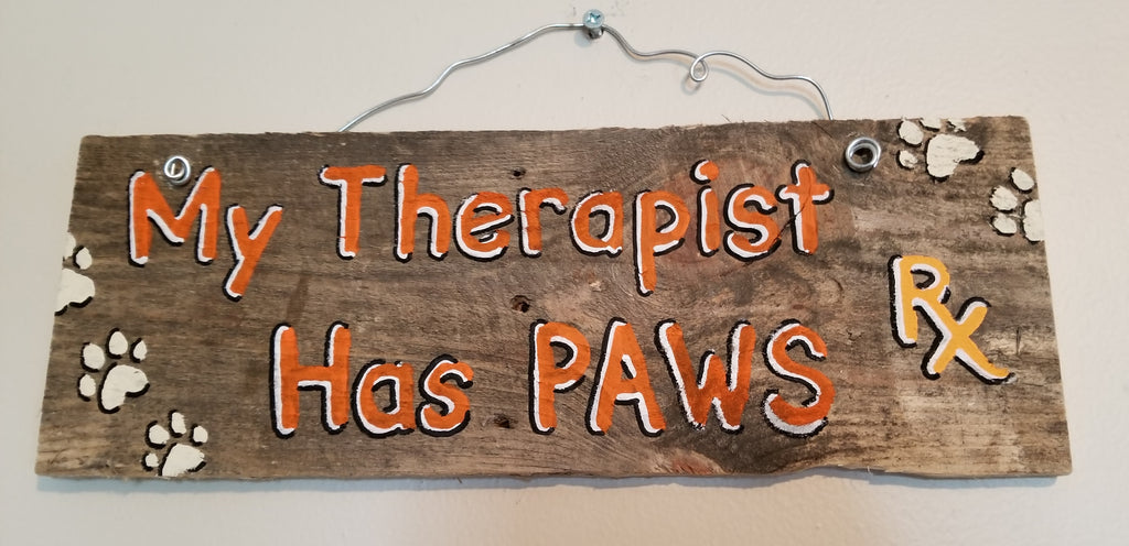 My therapist has paws (orange)