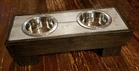 Small/Medium Dog Feeder and Water Stand
