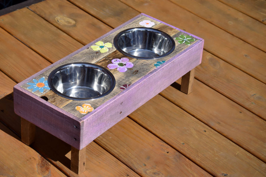 Small Dog Feeder and Water Stand (Lily)