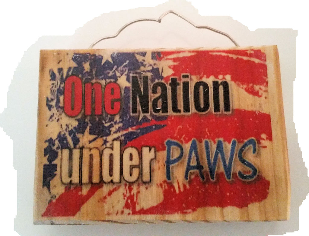 One Nation Under Paws Magnet