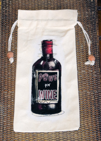 Paws for Wine - Wine Bag