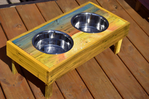 Medium Dog Feeder and Water Stand (Sunny)