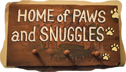 Home of Paws and Snuggles Leash holder