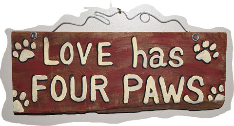 Love has four Paws (red)