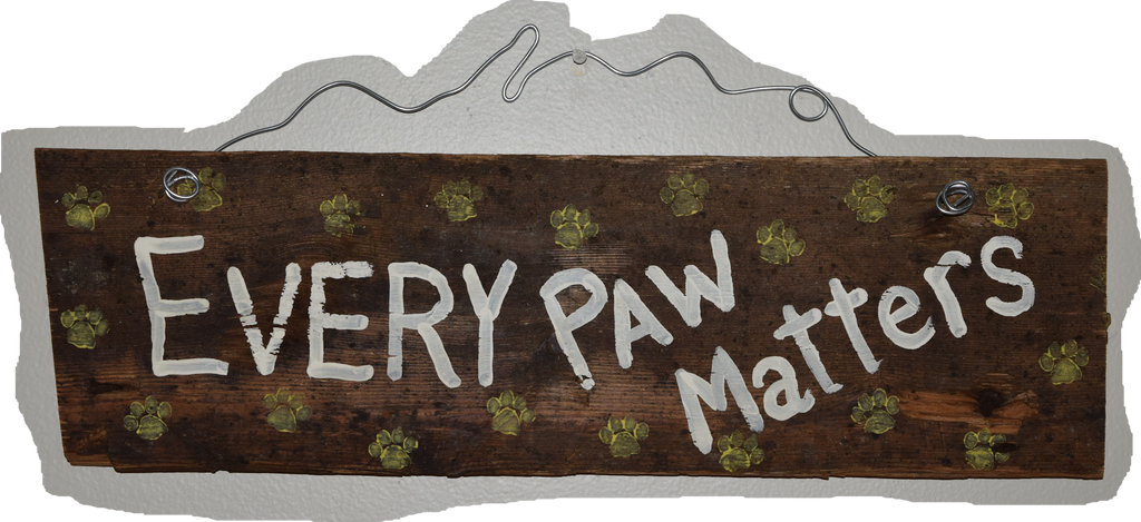Every Paw Matters (white lettering yellow paws)