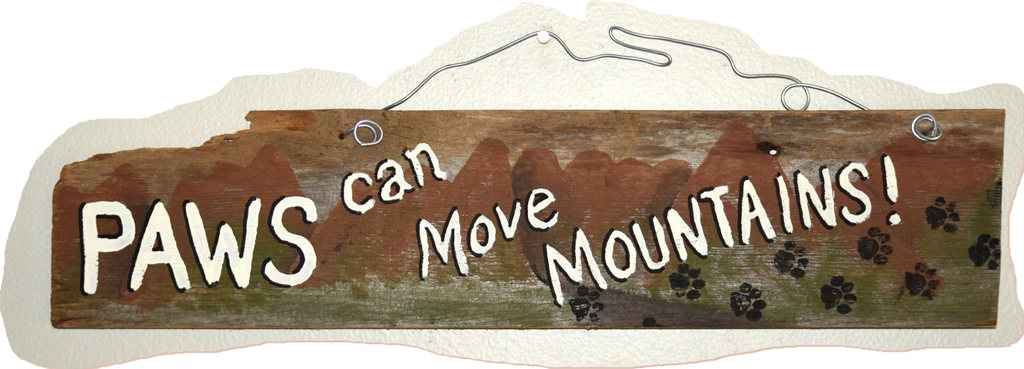 Paws can move mountains