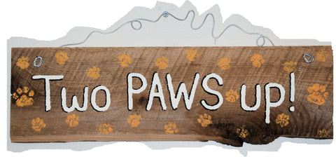 Two Paws Up (white - orange paws)