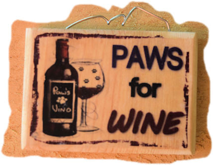 Paws for Wine Magnet