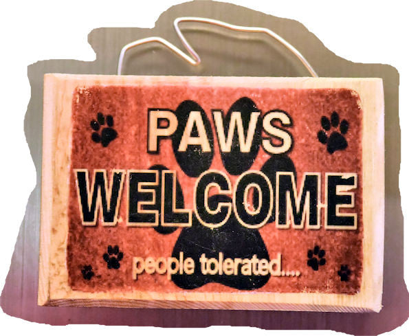 Paws Welcome - People Tolerated Magnet