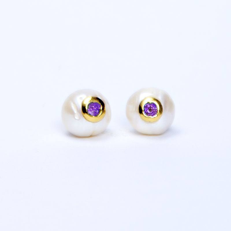 Handmade Jewelry - Dazzling Beverly Hills, Earrings - Caona Design
