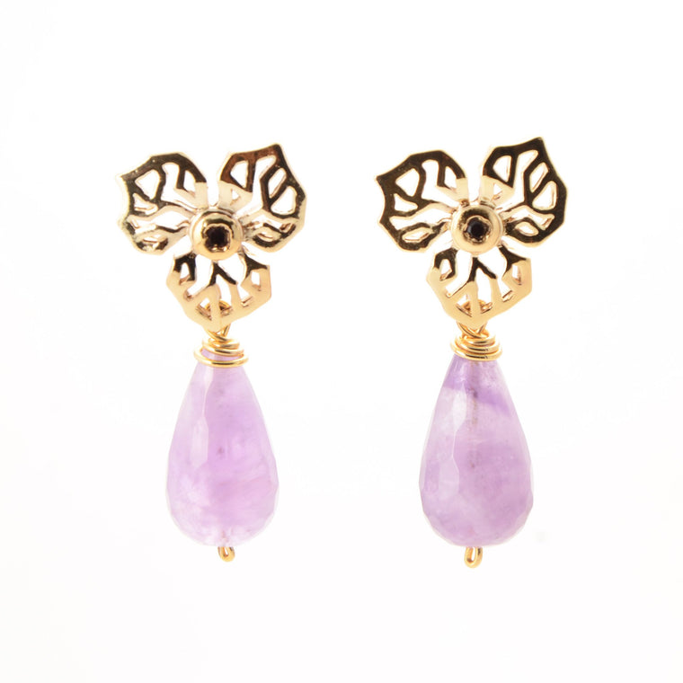 Handmade Jewelry - Violet's Garden, Earrings - Caona Design