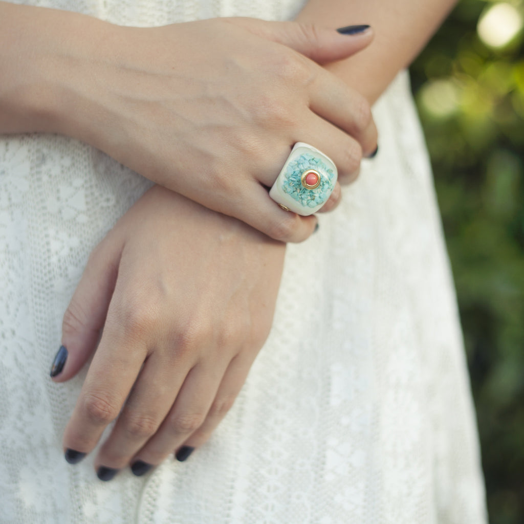 Handmade Jewelry - Columbus's  Circle, Rings - Caona Design