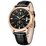 Dominion - Analog Watch with 5 hands and Leather band - Best Watches Direct