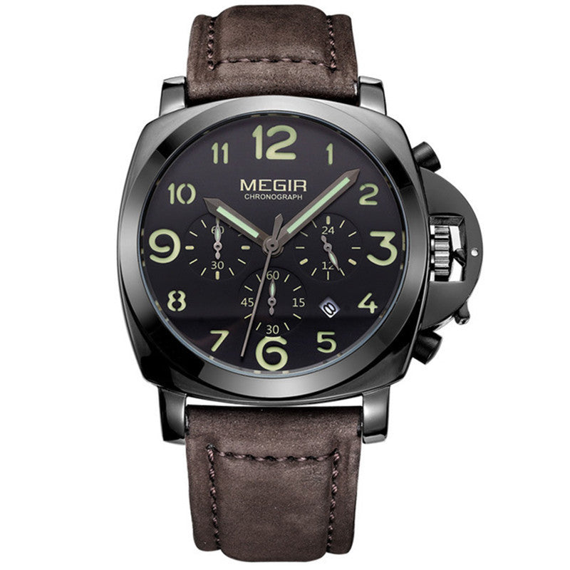 Argus - Analog watch with Leather band - Best Watches Direct