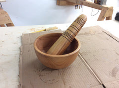 One guy made a mortar and pestle.