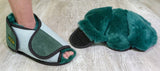 Pressure Care Slippers, Open Toe with rubber sole (pair)