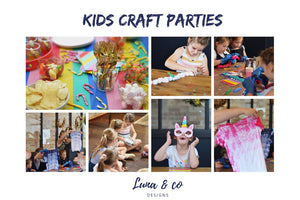 Kids Craft parties, Kids Birthday parties or even holiday fun.